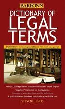 Dictionary of Legal Terms : Definitions and Explanations for Non-Lawyers by Stev