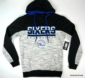 Unk Philadelphia 76ers Sweatshirt Heather Grey Black Hoodie Small NWT $70 MSRP