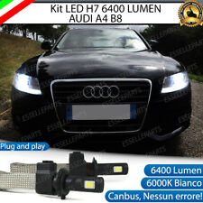 KIT LAMPADE ANABBAGLIANTI LED AUDI A4 B8 LED H7 6000K 6400 LUMEN NO ERROR