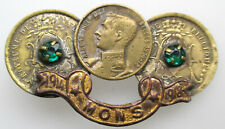 Belgique Badge Mons 1918 WOI Albert I Bergen Hainaut 46mm.