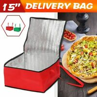 "15"" Hot Food Pizza Takeaway Storage Bag Thermal Insulated Delivery"