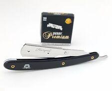 Straight Barber Shaving Razor & 100 Single Edge Premium Blades