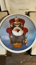 Vintage Edwin McKnowles Norman Rockwell Mothers Day 1985 Mending Time Plate Coa