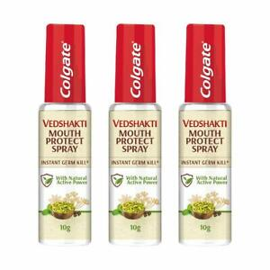 Colgate Vedshakti Mouth Protect Spray 10gm (Pack Of 3)