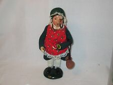 Byers Choice Retired 1991 Red Headed Girl with Apple Penny and Purse