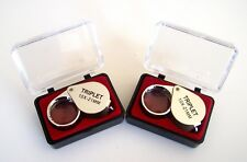 2 CHROME JEWELERS LOUPE 21MM 10X POWER MAGNIFIER TRIPLET MAGNIFYING GLASS JL2130