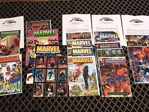 Lot of Marvel Annual & Quarterly Stock Reports w/ RARE Stockholder Invitations