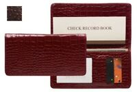 Raika AN 164 BROWN Leather Checkbook Cover - Brown