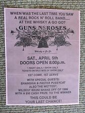 Guns & Roses Early April 5th 1986 Whiskey A Go Go Concert Flyer Poster COPY #8