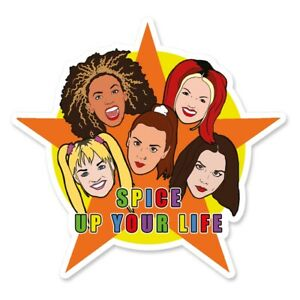 The Spice Girls Spice Up Your Life Girl Power inspired Vinyl Sticker