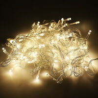 100/200/300/400/600 LED Christmas Party Indoor Outdoor Xmas Fairy String Lights