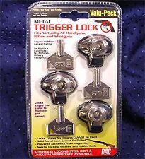 Dac Value 3 Pack Rifle Shotgun Pistol Gun Trigger Locks Mtl-100