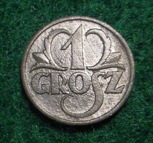 SCARCE HI GRADE 1939 1 GROSZ POLAND/GERMAN NAZI OCCUPATION*WWII*SUPERB DETAILS