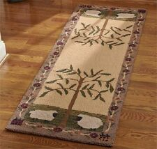 Willow and Sheep Hand-Hooked Rug Runner by Park Designs
