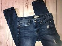 Banana Republic 27/4 Skinny Fit Jeans Sz 4  Distressed Ripped Stretch Jegging