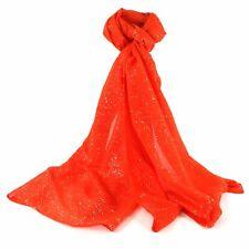 Orange Neon Glitter Scarf Sparkle Scarves Wrap Shawl Summer Holiday Sparkles