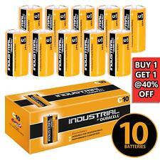 10 x DURACELL Industrial Alkaline R14 LR14 1.5V C Type Size C Batteries Battery