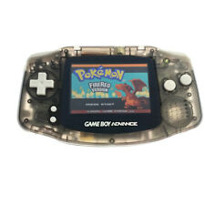 Clear Black Game Boy Advance GBA game Console AGS-101 Backlight Backlit Screen