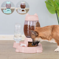 Automatic Pet Feeder Small Dog Cat Food Bowl & Water Fountain Drink Dispenser