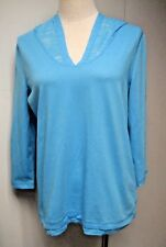 NWT L-RL RALPH LAUREN.ACTIVE 3/4 Sleeve Hoodies T- Shirt, PM, turquoise blue