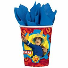 8pk Fireman Sam Paper Cups 266ml Childrens Birthday Party Tableware
