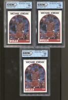 3 CT 1989-90 Michael Jordan Hoops #200 Gem Mint 10 RC Chicago Bulls MVP HOF