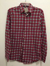 NWT Jack Wills Flannel Long Sleeve Button Front Shirt Men's Size Small