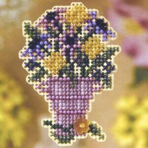 Cut Flowers Beaded Cross Stitch Kit Mill Hill 2008 Spring Bouquet