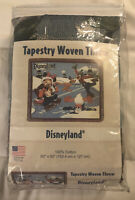 "Disneyland Tapestry Woven Throw Mickey Minnie Donald Goofy Pluto 60""x50"" Disney"