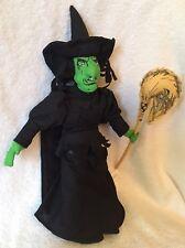 Wicked Witch Of the West,Wizard Of Oz,Halloween,Plush Doll,W/Tag,Nanco,Vintage