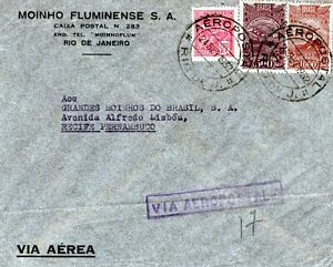 BRAZIL: Domestic airmail cover 1932. Arr.canc.