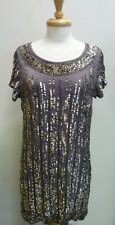 French Connection Sequined Tunic Dress Size 10 Label Colour is Mole