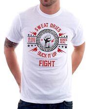 SUCK IT UP and FIGHT CLUB Project MAYHEM Tyler Durden BLOOD t-shirt 9639