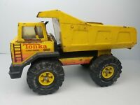 Vintage 1980's Mighty Tonka XMB-975 Loader Metal Dump Truck Yellow Turbo Diesel