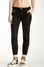 7 FOR ALL MANKIND Women's Black Lyocell Zippered Chino Pants size 30 EEUC