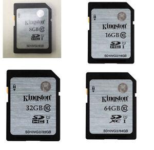 8GB/16GB/32GB/64GB Original Kingston SD SDHC/XC C10 Flash Memory Card f.Camera
