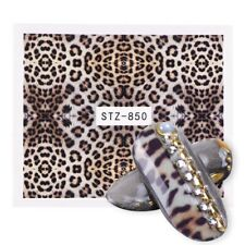 Nail Art Water Decals Stickers Transfers Light Brown Leopard Animal Print (850)