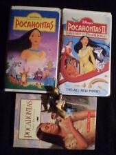 Lot of 4 Pocahontas HC Book Hanes 2 VHS Movie Figurine