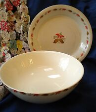 Vintage Set of 2 Largo Ballerina Mixing Bowl & Pie Plate Universal Cambridge