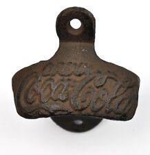Vintage Coca Cola Coke Wall Bottle Opener Wall Mount Bottle Opener Rust Style