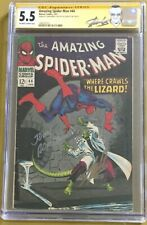 Amazing Spider-Man #44 CGC 5.5 Signed John Romita Stan Lee 2nd Lizard Appearance
