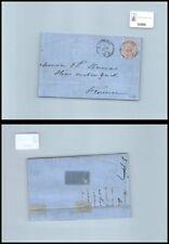 SP00898 - Italia Regno V.E. II 60 cent. Lilla chiaro L21 da Livorno a Ferrara