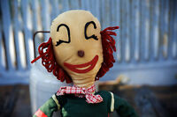 Rare Vintage Soft Face Clown Stuffed Doll