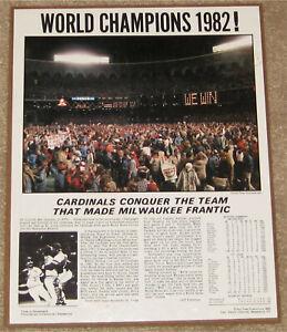 1982 St Louis Cardinals World Champions Baseball Wood Plaque