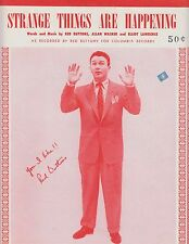 Strange Things Are Happening - Red Buttons - 1953 Sheet Music