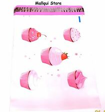 25 CUPCAKES DESIGNER 10 x 13 MAILER POLY BAGS MAILING PLASTIC BAGS Des: 10
