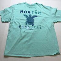Roatan Honduras Norwegian Pearl Blue Turtle Tourist T-Shirt Delta Size 2XL A1798