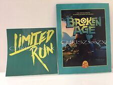 Limited Run #60 #61 Broken Age PS Vita PS4 Art Post Card + Sticker ONLY