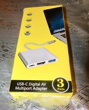 USB-C Digital AV Multiport Adapter (3 ports). New in Box