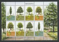 Moldova 2018 Nature, Trees 8 MNH stamps sheet